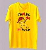 Unisex- Tumse Na Ho Payega Yellow Round Neck Dri-Fit Tshirt