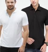 Combo Pack Of 2 Men's Polo Tshirt-Black,White