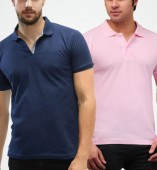 Combo Pack Of 2 Men's Polo Tshirt-Navy Blue,Pink