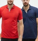 Combo Pack Of 2 Men's Polo Tshirt-Red,Navy Blue