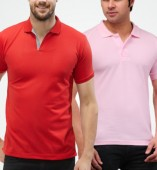 Combo Pack Of 2 Men's Polo Tshirt-Red,Pink