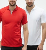 Combo Pack Of 2 Men's Polo Tshirt-Red,White