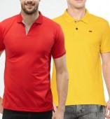 Combo Pack Of 2 Men's Polo Tshirt-Red,Yellow