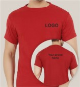 Red Dri Fit Round Neck T-shirt (160gsm)