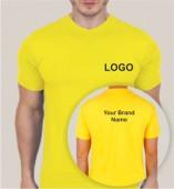 Yellow Dri Fit Round Neck T-shirt (160gsm)