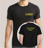 Black Dri Fit Round Neck T-shirt (160gsm)