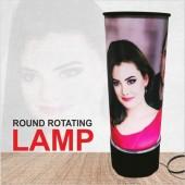 Round Photo Rotating Lamp