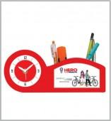 Table Clock cum Pen Stand- 114